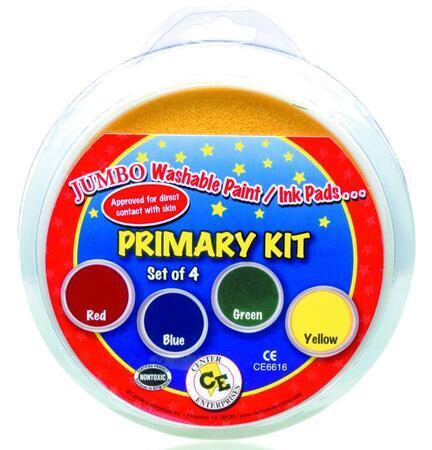 4 x Kruhový polštářek - základní barvy