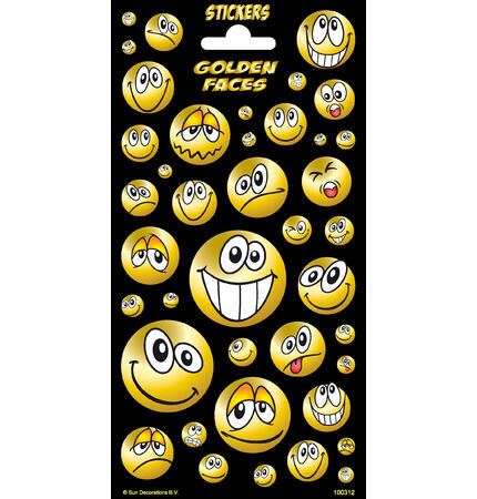 Samolepky-typ C - Golden Faces