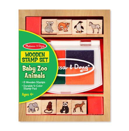 Dřevěná razítka v krabičce - ZOO - 1