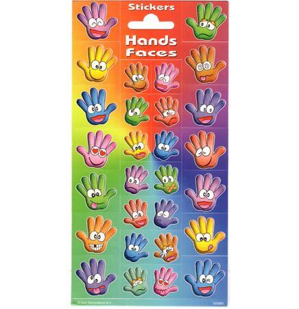 Samolepky-typ C / Happy hands/