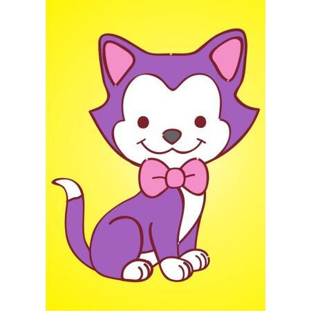 Obrázek pro pískování 23x33 cm /kočička/ - 1