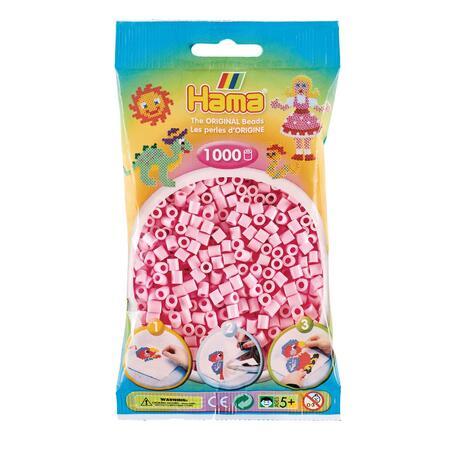 Pastelově světle růžové korálky - 1.000ks MIDI