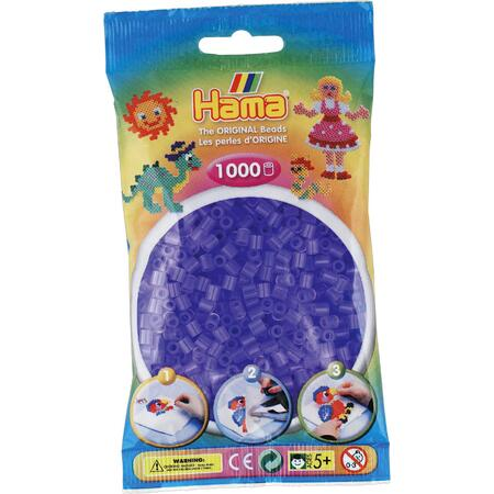 Průhledné fialové korálky - 1000 ks MIDI
