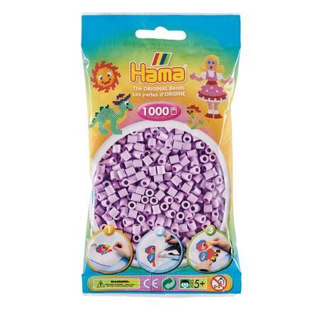 Pastelově světle fialové korálky - 1.000ks MIDI