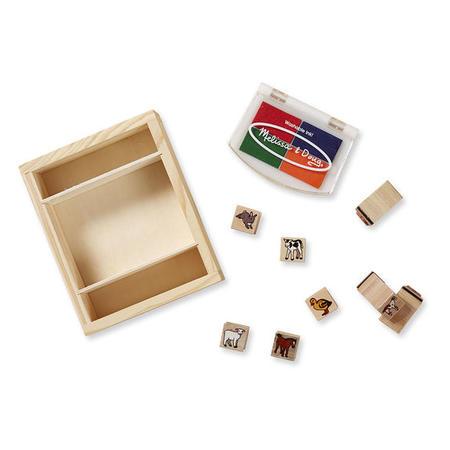 Dřevěná razítka v krabičce - Farma - 1