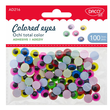 Oči barevné samolepící /100 ks/