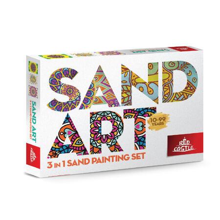 SAND ART - 2x MANDALY, RELAX - 3x A4 obrázky - 1