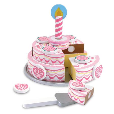 Dřevěný třípatrový narozeninový dort - 1