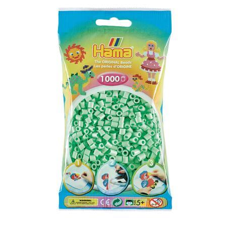 Pastelově světle zelené korálky - 1.000ks MIDI