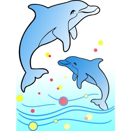 Obrázek pro pískování 23x33 cm /delfíni/ - 1