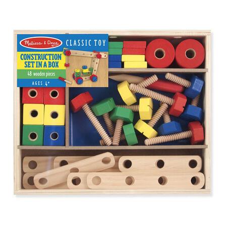 Dřevěná konstrukční stavebnice /48 ks/ - 1
