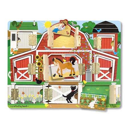 Dřevěné puzzle s dvířky - 1