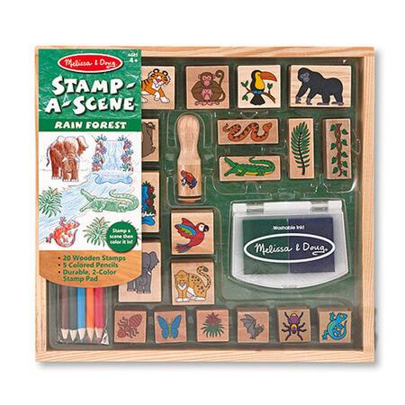 Dřevěná razítka v krabičce - Prales - 1