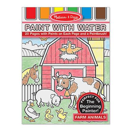 Omalovánky s barvami - zvířata na farmě - 1
