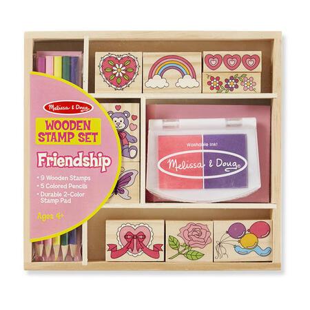 Dřevěná razítka v krabičce /přátelství/ - 1