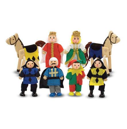 Dřevěné ohebné figurky Knížecí rodina - 1