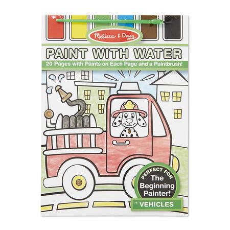 Omalovánky s barvami - dopravní prostředky - 1