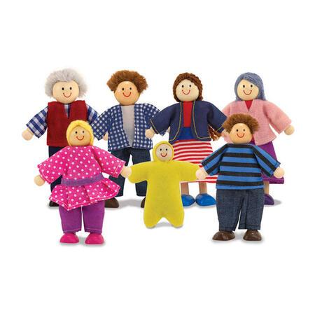 Dřevěné ohebné figurky Rodina - 1
