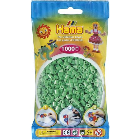 Světle zelené korálky - 1.000ks MIDI