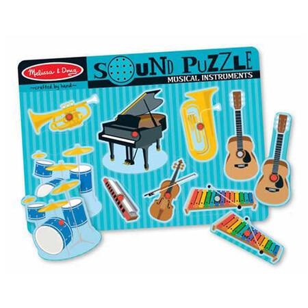 Dřevěné puzzle se zvuky - hudební nástroje - 1