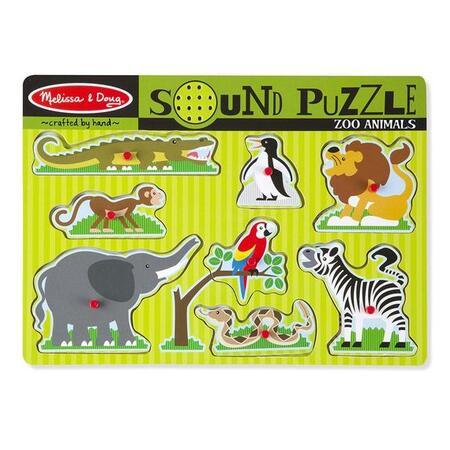 Dřevěné puzzle se zvuky - ZOO - 1