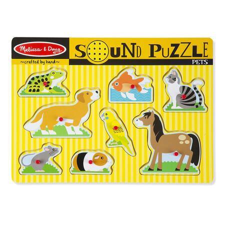 Dřevěné puzzle se zvuky - domácí zvířata - 1