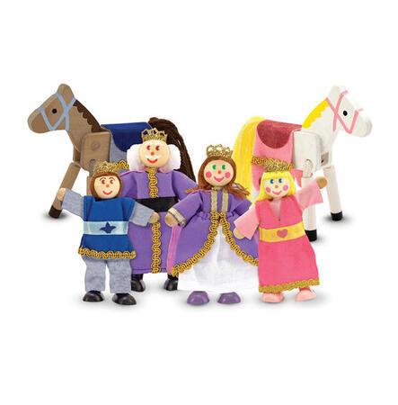 Dřevěné ohebné figurky Královská rodina - 1