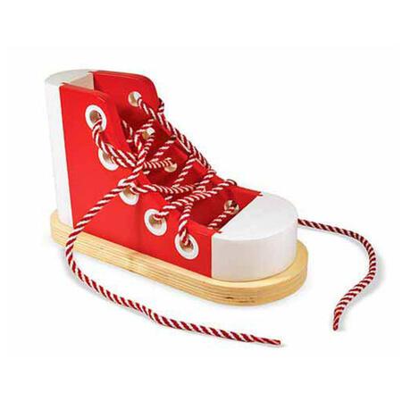 Dřevěná bota - Zavazování tkaničky - 1
