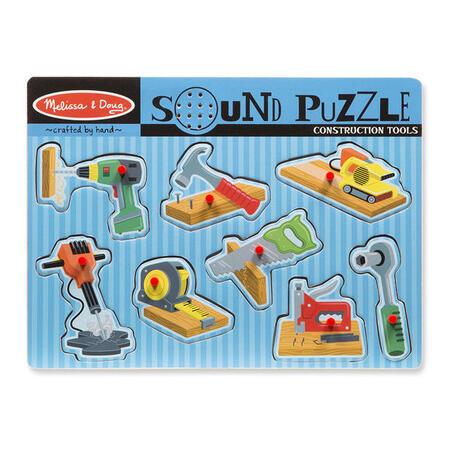 Dřevěné puzzle se zvuky - nářadí - 1