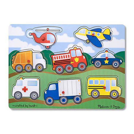 Dřevěné puzzle Dopravní prostředky - 1