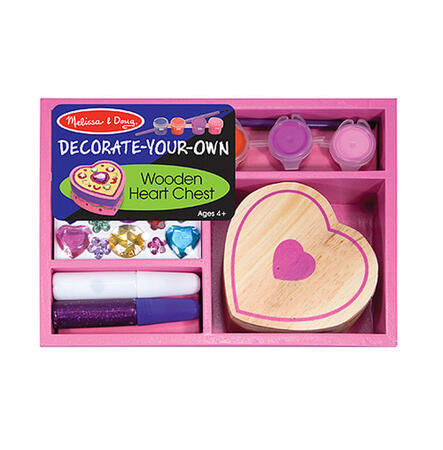 Dřevěná krabička k vymalování /Srdce/ - 1
