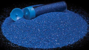 Barevný písek /70g/ -  tmavě modrá - 1