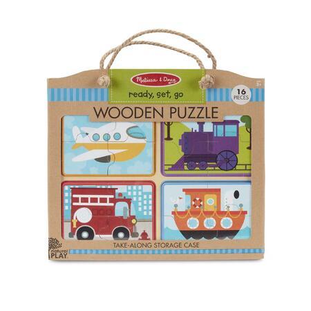 Dřevěné puzzle na cestu Dopravní prostředky - 1
