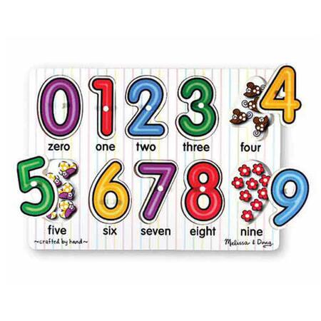 Dřevěné puzzle - Číslice - 1
