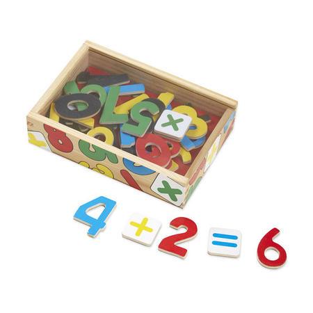 Dřevěné magnetické číslice 37 ks - 1