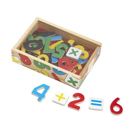 Dřevěné magnety číslice 37 ks - 1