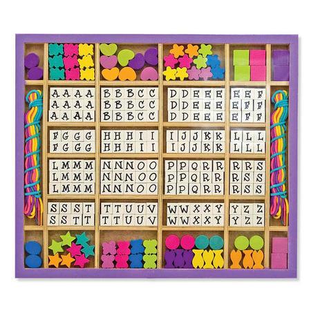 Dřevěné korálky s abecedou - 1