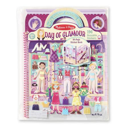 Adhezní kniha se samolepkami - panenky - 1