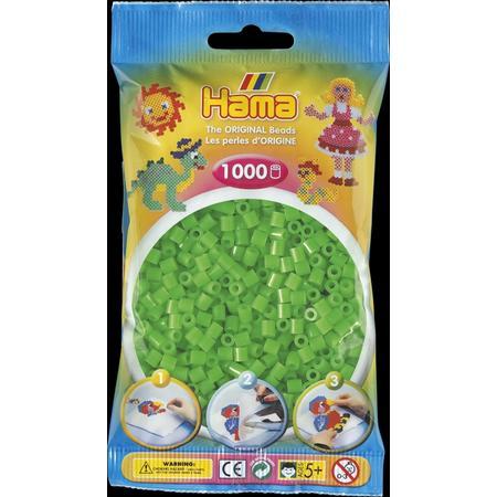 Zářivě zelené korálky - 1.000ks MIDI