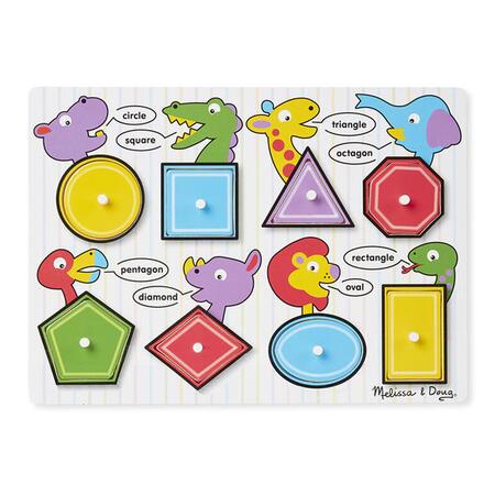 Dřevěné puzzle - Tvary - 2