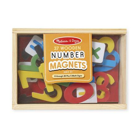 Dřevěné magnety číslice 37 ks - 2