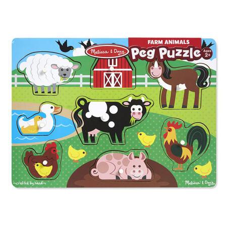 Dřevěné puzzle Farma - 2