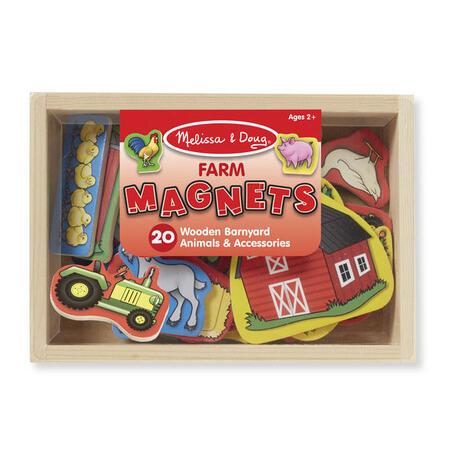 Dřevěné magnety Farma - 2
