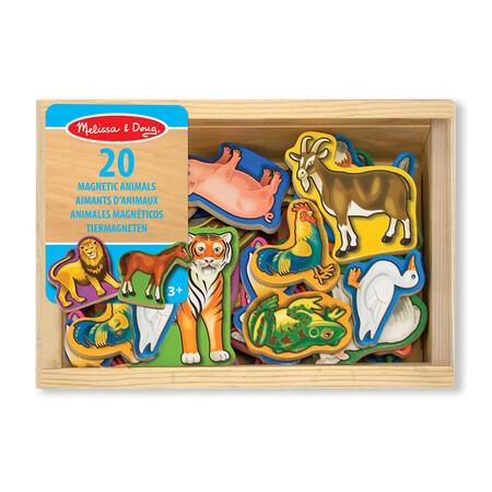 Dřevěné magnety zvířátka 20 ks - 2