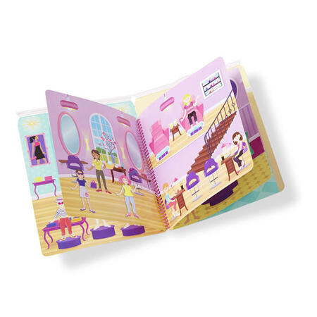 Adhezní kniha se samolepkami - panenky - 2