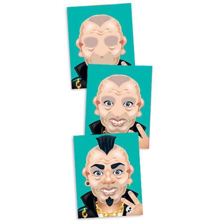 Vytvoř obličej - crazy postavičky - 2