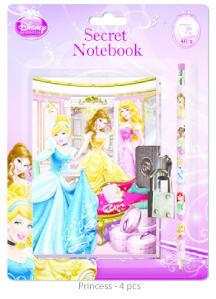 Zápisník se zámkem a tužkou Disney - 2