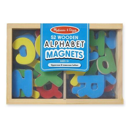 Dřevěná magnetická abeceda 52 ks - 2