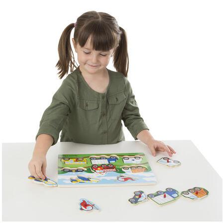 Dřevěné puzzle Dopravní prostředky - 2