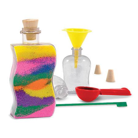 Dekorace barevným pískem /3 lahvičky/ - 2